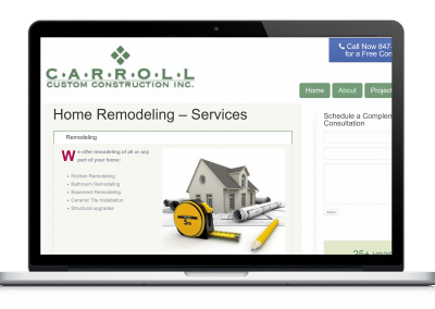 Website For Remodeling Contractor