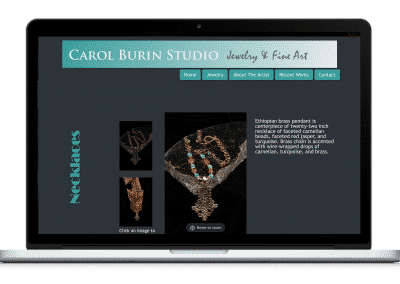 Website For Artist Studio item page