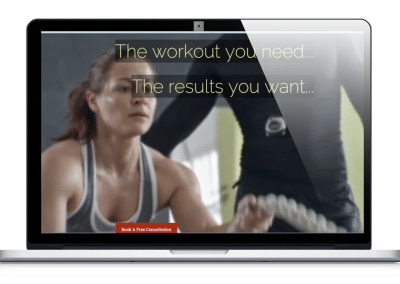 Custom Websites for fitness studio